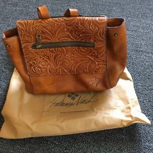 Patricia Nash Convertible Leather Purse-Lite Brown